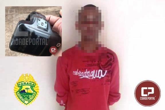Homem que havia mandado de prisão se entrega para a Polícia Militar em Moreira Sales