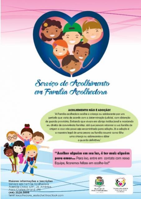 Família Acolhedora: Assis busca interessados em acolher crianças e jovens