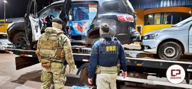 PRF e PF apreendem três veículos utilizados no contrabando de cigarros em Terra Roxa