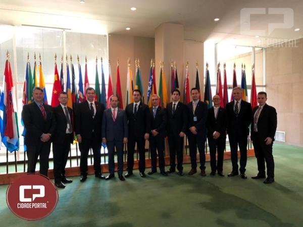 Deputado Micheletto acompanha governador em visita a ONU
