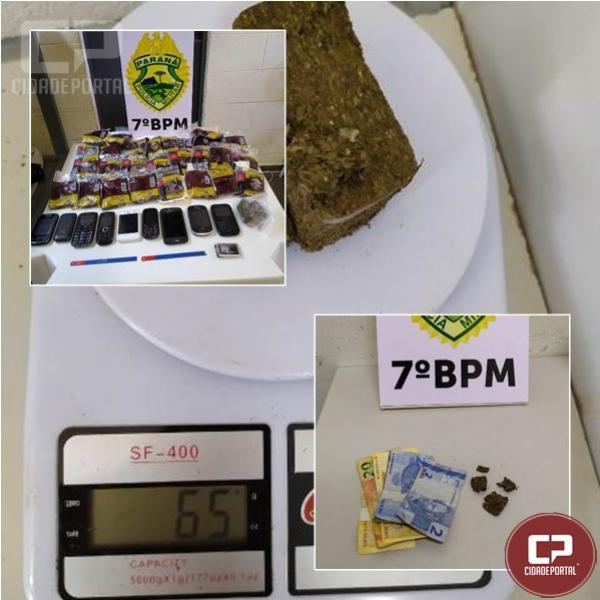 Polícia Militar encaminha dois indivíduos por tráfico de drogas em Cruzeiro do Oeste