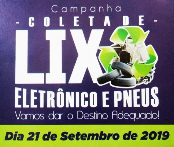 Coleta de lixo eletrônico e pneus acontece neste sábado, 21, em Assis Chateaubriand