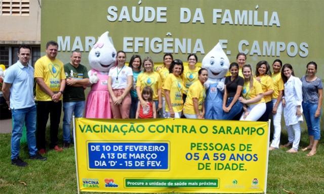 Campanha contra sarampo mobilizou Saúde de Assis Chateaubriand no último sábado, 15
