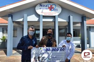 Deputado Estadual Soldado Adriano José entrega emenda de 100 mil reais para Santa Casa de Goioerê