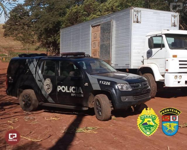 BPFron apreende caminhão carregado com cigarros contrabandeados em Terra Roxa