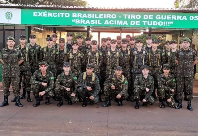 Tiro de Guerra fará evento de término do curso de formação de cabos em Assis