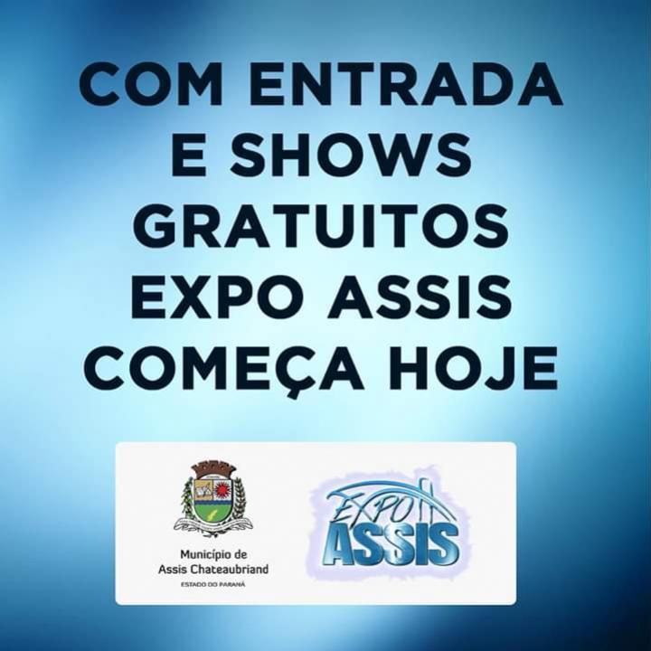 Com entrada e shows gratuitos Expo Assis começa nesta sexta-feira, 19