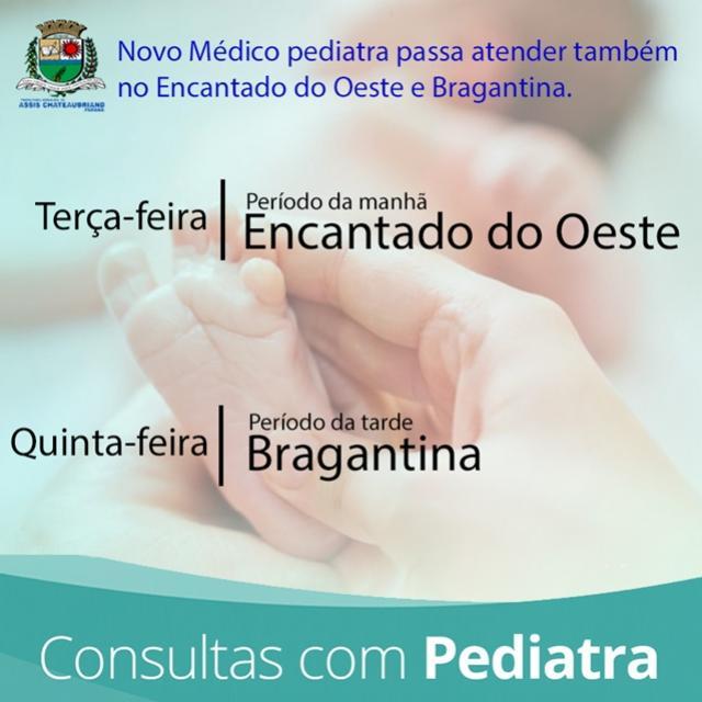Prefeitura contrata médico pediatra para atuar no Encantado e Bragantina