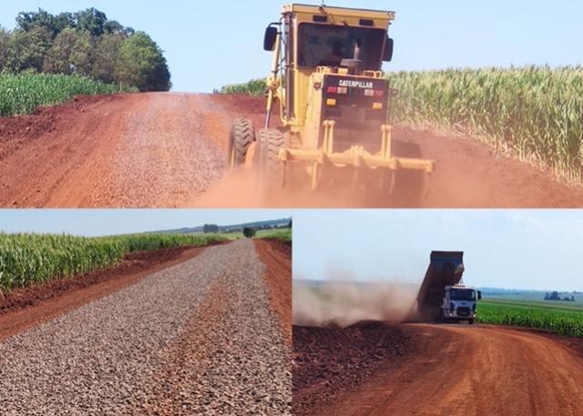 Quase 20 quilômetros de estradas rurais recebem melhorias