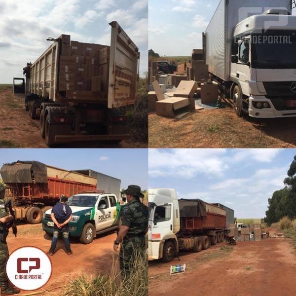 Polícia Ambiental de Umuarama apreende 1.000 caixas de cigarros contrabandeados