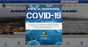 COVID: Portal da Transparência mostra que Assis investiu R$ 1,7 milhão para enfrentamento
