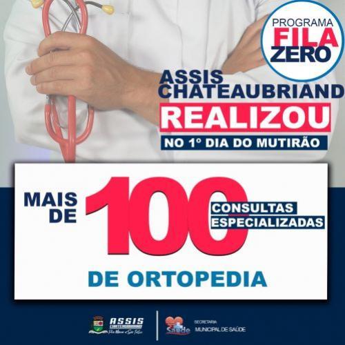 Fila Zero atendeu no primeiro dia mais de 100 consultas de ortopedia em Assis Chateaubriand
