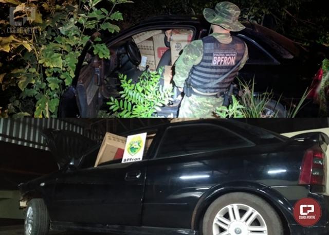 BPFron apreende cigarros contrabandeados na cidade de Terra Roxa