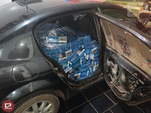Polícia Rodoviária Estadual de Assis Chateaubriand apreende 10.000 mil maços de cigarros contrabandeados