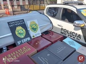 Rotam de Cascavel apreende veículo carregado com descaminhos de vinhos em Assis Chateaubriand