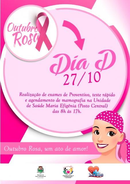 Dia D da Campanha Outubro Rosa acontece hoje em Assis