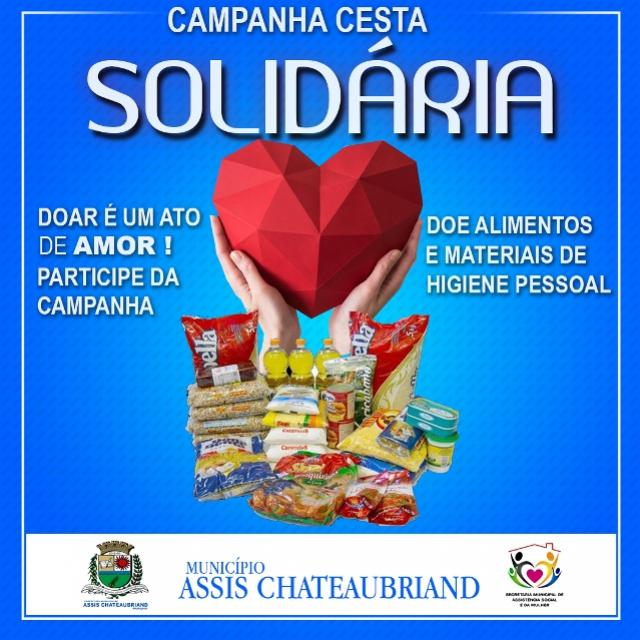 Assistência Social de Assis Chateaubriand lança Campanha Cesta Solidária