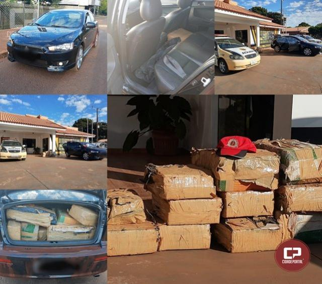 PRE de Palotina apreende 205 kg de maconha em veículo com alerta de furto