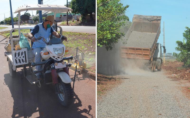 Cidade bonita: Prefeitura realiza manutenção de vias no Jardim Progresso