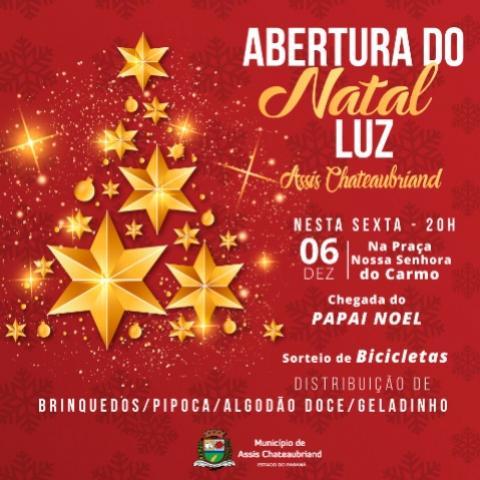 Abertura do Natal Luz de Assis será no dia 6 de dezembro