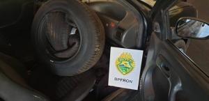 BPFron apreende pneus contrabandeados em Terra Roxa durante Operação Hórus