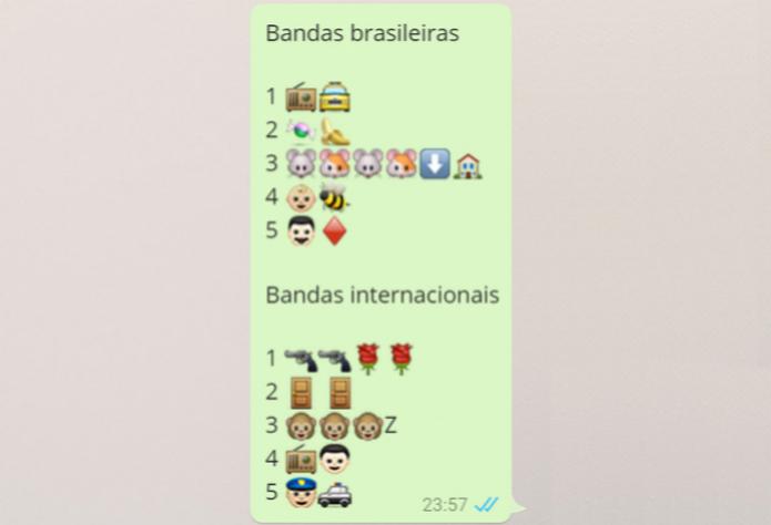 Tradutor de Emoji decifra desafio de bandas e de filmes