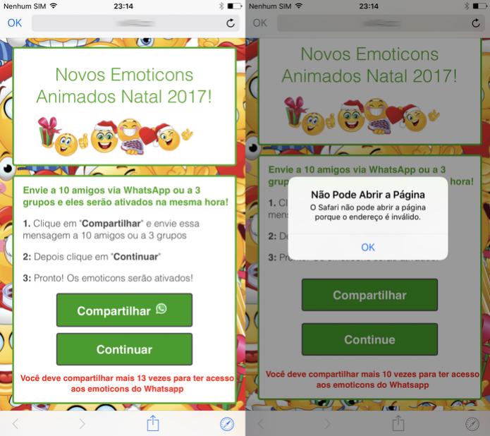 WhatsApp brasileiro tem golpe que usa emoticons de Natal animados como isca