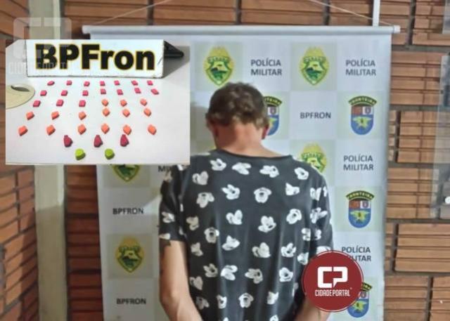 BPFron apreende indivíduo com ecstasy em Marechal Cândido Rondon-PR
