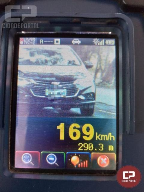 PRE autua 43 motoristas em operação radar no município de São Miguel do Iguaçu