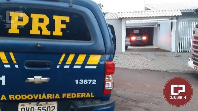 PRFapreende cigarros contrabandeados em veículo roubado em Céu Azul/PR