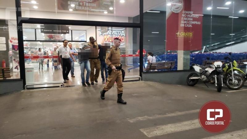 Quadrilha tenta roubar Hipermercado em Campo Mourão e 2 menores acabam apreendidos