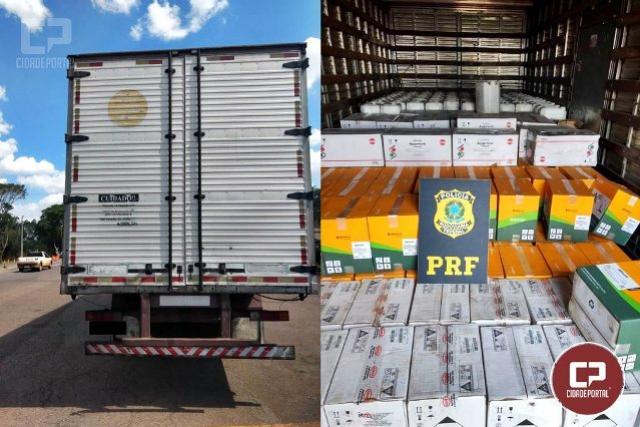 PRF recupera em Campo Mourão mais de 7 toneladas de agrotóxicos roubados em SC