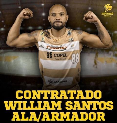 Campo Mourão Basquete anuncia o retorno do ala/armador William Santos