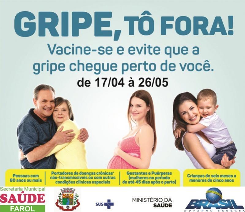Campanha Nacional de Vacinação contra gripe vai até o dia 26 de maio