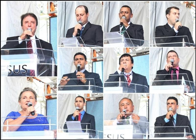 Prefeito, Vice e vereadores de Quarto Centenário foram empossados neste domingo, 01