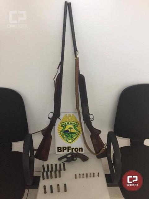 Em ação conjunta, mandado de prisão é cumprido, munições e armas de fogo são apreendidas em Planalto-PR