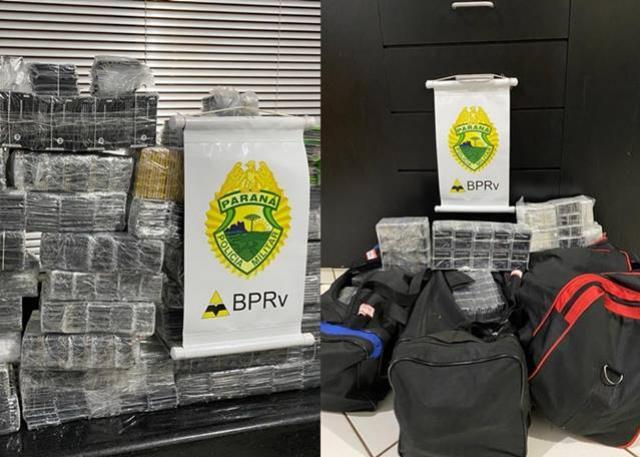 PRE de Cruzeiro do Oeste apreende mercadoria contrabandeada em ônibus