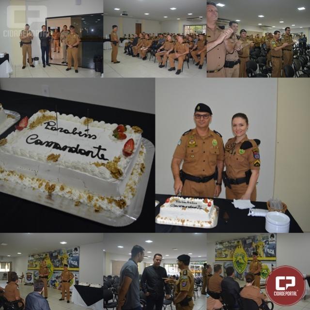 4° Batalhão comemora aniversário de seu comandante em Maringá