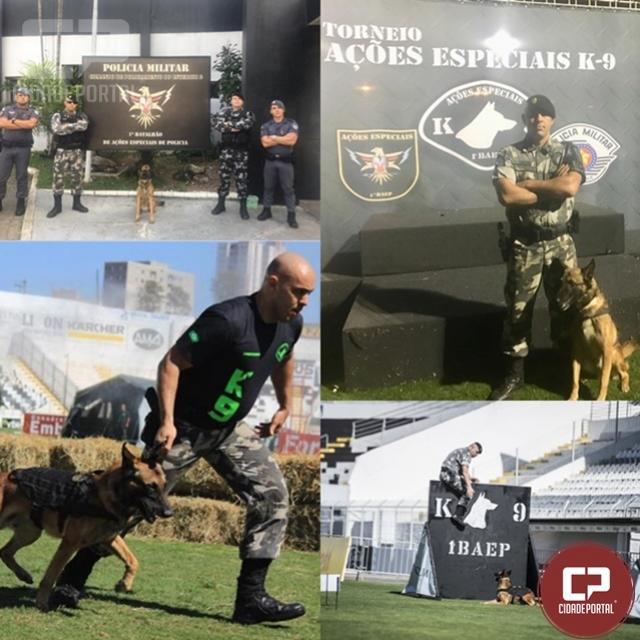 Soldado da Polícia Militar participa de torneio de ações especiais k-9 em Campinas/SP