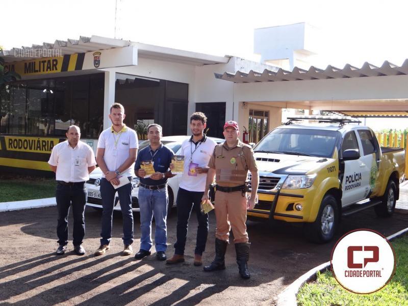 PRE, Ciretran e Centro de Condutores de Santa Helena realizam ações em alusão a Maio Amarelo