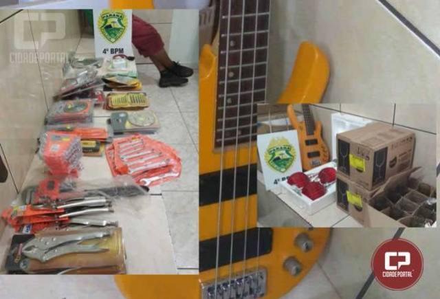 Rádio Patrulha recupera vários objetos furtados e prende receptador