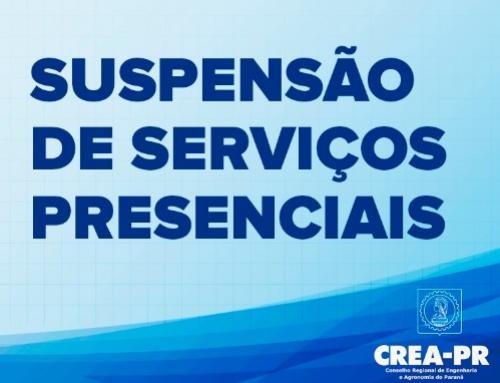 Crea-PR suspende serviços presenciais