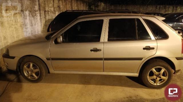 Equipe da PM recupera veículo roubado há poucas horas na cidade de Cruzeiro do Oeste