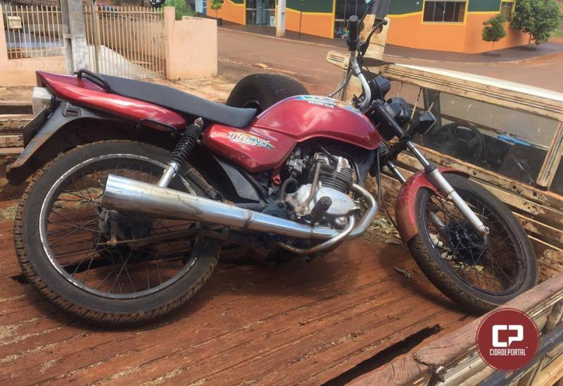 Polícia Militar de Nova Cantu Recupera Moto furtada em Goioerê e Prende acusado de receptação