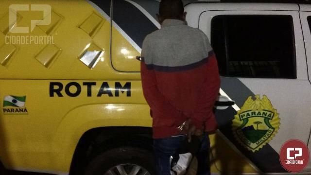 Polícia Militar prende indivíduo por tráfico de drogas em Tapejara