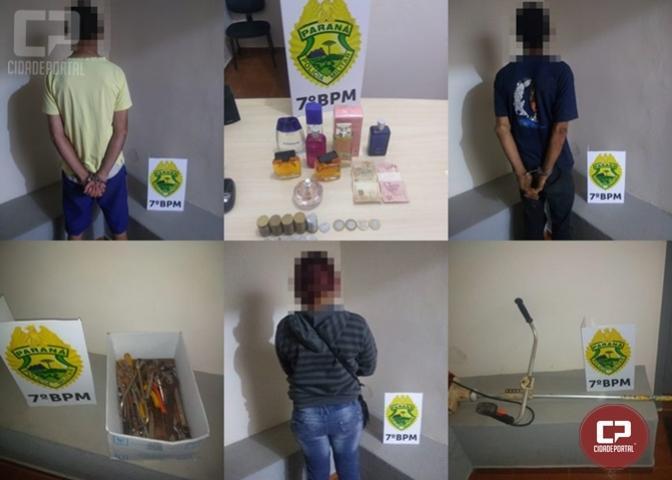 Três pessoas foram presas por tráfico e receptação em Moreira Sales