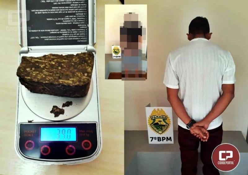 Polícia Militar de Moreira Sales apreende drogas e encaminha dois para delegacia