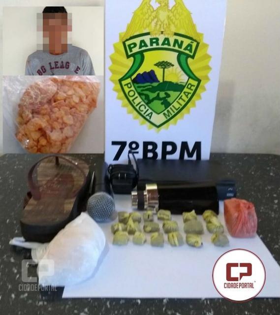 Uma pessoa foi presa por tráfico de drogas e receptação em Moreira Sales