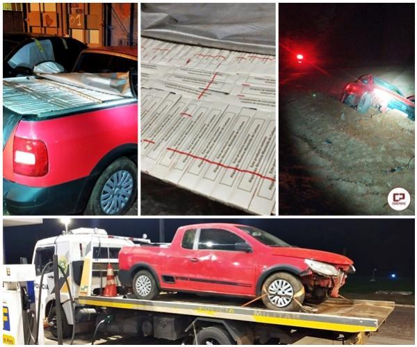 Após perseguição Polícia Miliar apreende veículo com contrabando e rádio de comunicação em Moreira Sales
