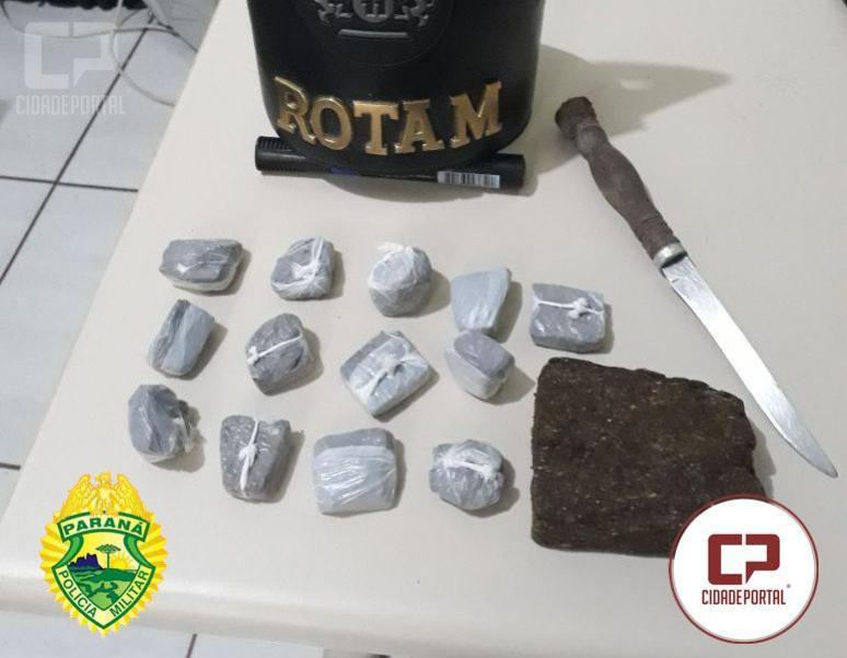 Rotam da 2ª CIA de Ubiratã prende casal em Salles de Oliveira de posse de entorpecentes